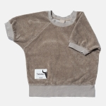 SHORT TERRY sweatshirt beige | BOOSO