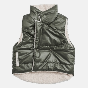 DOUBLE vest green | BOOSO