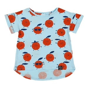 T-shirt LIGHT BLUE ORANGES | KUKUKID