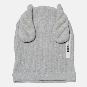 RIBBING BEANIE WINGS gray marl | BOOSO